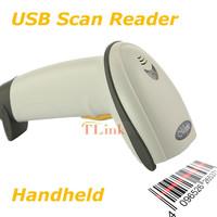 Long Barcode Laser USB Port CCD Handheld Barcode Scanner Bar Code Reader for POS Grey High Quality