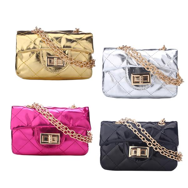 2014 nouvelles femmes enfants sac princesse, chaîne en métal sac à bandoulière filles sacs à main sacs à bandoulière