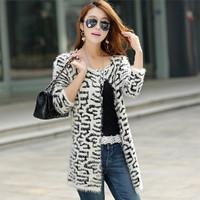 cardigan women coat casaco winter sweater tricotado pulover leopard cardigan casaquinho sweaters 2014 women fashion brand