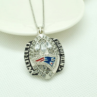 Hot Selling Fashion Rhodium 2004 New England Patriots Championship Necklaces & Pendants For Men jewelry 1 pcs, PD0644