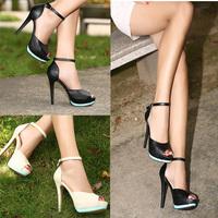 2014 Classic Fashion Women Pumps Sandals Shoes High Heels Ankle Strap Peep Toe Platform Sole Shoes Stilettos Wedding Shoes