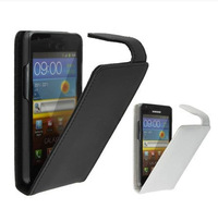 2014 Free Shipping Up Down Open Flip Leather Case Cover For   Alcatel ONE TOUCH IDOL X PLUS TCL S960 6043D Phone
