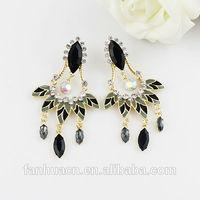 Fashion Multicolor Rhinestone Enamel Alloy Luxury Designer  Drop Earrings New 2014 Brincos for Women