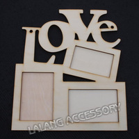 1PCS Free Shipping LOVE Wood Photo Frame White Base Frame DIY Picture Frame HO870314