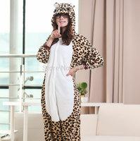 Cartoon Cheetah Leopard Bear Pyjamas Hooded Pyjamas Animal Pajamas Cosplay Costume Anime Onesie for Adults