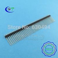 Free Shipping 10pcs 1*40 40Pin 2.54mm 20mm Long Header Pin Male Breakable Pin Header