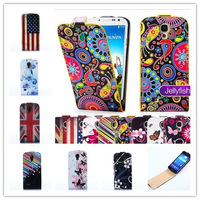 Color Butterflies PU LEATHER Cell Phones CASE FOR SAMSUNG GALAXY S4 Mini i9190 I9192 I9195+1 flim+ FREE 1 STYLUS