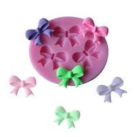 Free shipping 3D Silicone Mold three Bowknot Shape Mould For Soap,Candy,Chocolate,Ice,cake