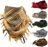 Military Shemagh Scarf Tactical Desert Arab Keffiyeh scarf arabic 100% Cotton
