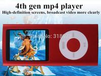 HOT SALE !Fast DHL 4th Gen MP4 Player + 16GB + 1.8inch screen Video Radio FM Recorder E-Book MP3 MP4 & Free shipping 50sets/lot
