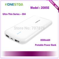 HONESTDA Ultra Thin Series 2085E 8500mah Protable  Fashion Power Bank Free Shipping