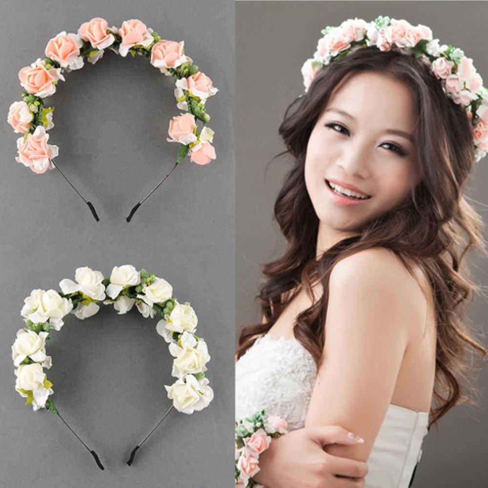 Flower Garland Floral Bridal Headband Hairband Wedding Prom Hair Accessories(China (Mainland))