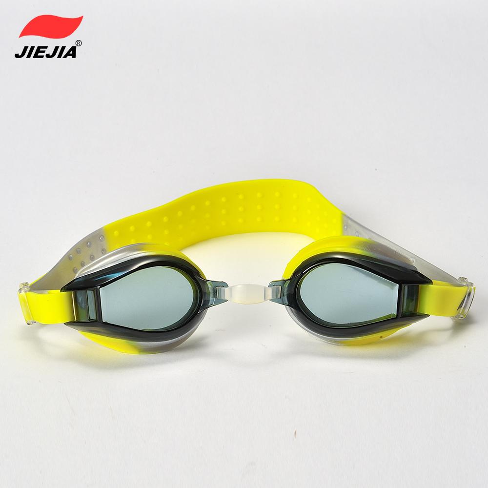 2014 New real Style Girls Yellow Acetate And Comfortable Swimming Goggles Children Accessories /waterproof Antifog Speedo J2439(China (Mainland))
