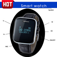 2014 Newest Bluetooth Smart Watch with Android smart phone Android SMS ringtone and vibration alert Time and date display