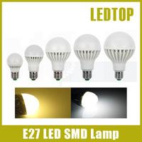 10pcs/lot 3W 5W 6W 9W 12W 15W 20W 25W, E27 5730 2835 LED SMD Corn Bulb Light 220V 230V spotlight lamp, cool/ warm white lighting