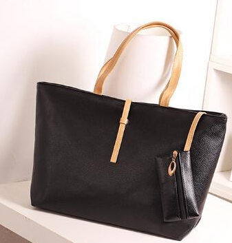 Free shipping commuter belt buckle big bag wild colorful PU shoulder bag fashion shopping handbag cheap price HB188(China (Mainland))
