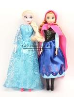 2015 Retail Hot Sale Princess Doll Cute Anna Elsa Mini Baby Dolls Action Figures Dolls Toys 2pcs set Classic Toys