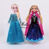 Retail Hot Frozen Elsa Anna Princesses Doll Newest Cute Mini Baby Doll Action Figures Dolls Toys 2 Pcs Set  2014 Classic Toys