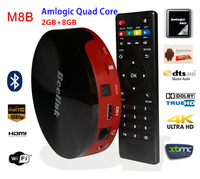 2014 Newest Amlogic M8 Quad Core up to 2.0GHz 2GB/16GB Android 4.4.2 tv box 4K XBMC Dolby digital bluetooth with remote control