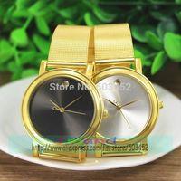 100pcs/lot New Arrival No Logo Gold Dot Grid Alloy Watch Fashion Ladies Dress Casual Watch Hot Seller Quartz Wristwatch