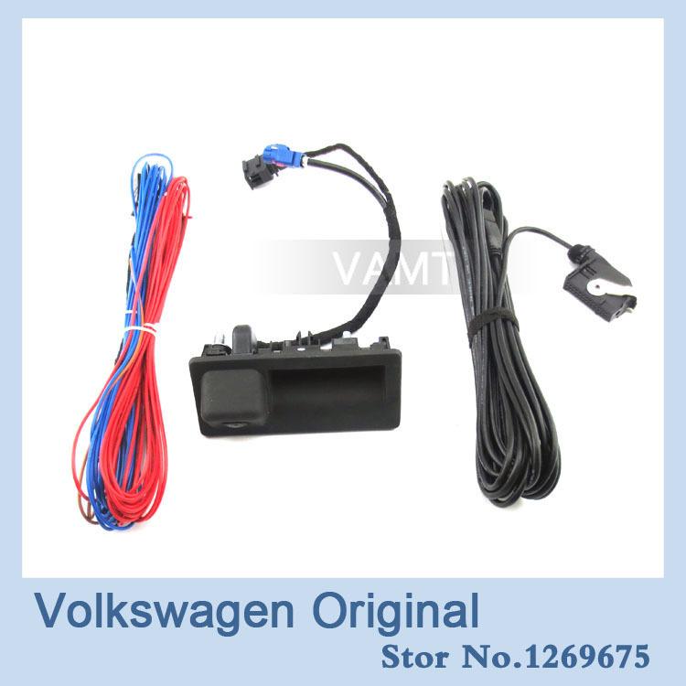 Камера заднего вида Volkswagen VW JETTA M5 MK6 TIGUAN PASSAT RNS510 RCD510 56D 827 566A 12v parking rgb reversing video camera for vw tiguan a4 a6 q5 rns510 rcd510 5nd 827 566 c 5n0 827 566c 5nd827566c
