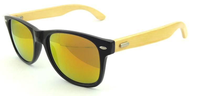 Free shipping hot sale Fashion Plastic Sunglasses black frame orange lens Model 5860(China (Mainland))