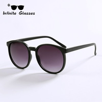 2014 New Round Style Infinite Sunglasses Hot Selling Glasses Vintage Coating Sunglass Women Men Brand Oculos De Sol N155