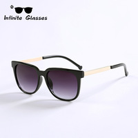 2014 New Square Style Infinite Sunglasses Vintage Glasses Mental Legs Coating Sunglass Women Gafas Men Brand Oculos De Sol N191