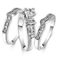 JA-5046A ,Fashion Jewelry Gold Ring Simple Circle Real Love Couple Ring Wedding Rings Engagement Rings