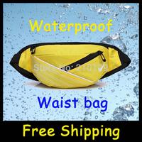 Hot sale 2014 High Quality Waterproof  running waist belt Outdoor Sports Belt Bag travel camping waistpack