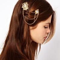 Pearl Crystal Chain Hair Pin Hair Accessories CF045
