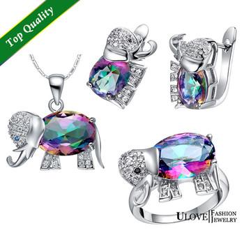 Elephant Baby & Kids Jewelry Sets, 925 Silver Set Детский Jewelry Austrian Crystal ...