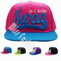 11.11 New 2014 Summer Hip Hop Letter Word On a Bazilian SWAG Men Snapback Caps Women Sun Hats Chapeau  Adjustable Free Shipping
