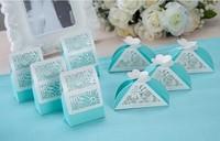 Free Shipping 200pcs Laser Wedding Favor boxes Paper chocolate gift sweet packing bag