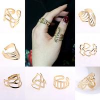 10pcs/set Fashion design hollow out finger knuckle ring