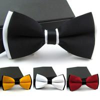 10Pcs lot Classic Fashion Adjustable Tuxedo Bowtie Ties For Men Suits Business Wedding Adult Solid Bow Tie Cravate Necktie