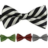 10Pcs/Lot New Fashion Men's Bowtie Adult Men Tuxedo Striped Bow Tie Formal Party Wedding Classic Cut Suit Bestman Ties