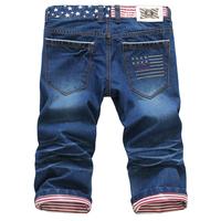 american flag denim men true calca cal bermuda designer jeans masculina brand skinny pantalone hombre homme male vetement short