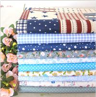 Blue 40CMx40CM 10 Designs mixed Cotton Fat Quaters Tilda cloth Quilting scrapbooking Patchwork Fabric Woven cloth neadend