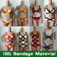 100% Bandage Swimsuit HL Rayon High Waist Sexy Women Bandage Swimwear Free Shipping