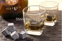 2014new Whisky stones 9pcs set in velvet bag, 3sets/lot, whiskey stone rock  +free shipping