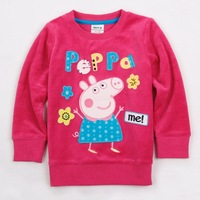One piece!Hot sell,Age 18m/6y NOVA kids wear girl's fashion t shirt clothes peppa pig baby girls long sleeve T-shirts F4275#