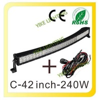 40 inch 240W 12V 24V Curved LED Light Bar For Driving Work Boat Car Truck SUV ATV OffRoad Spot Flood Combo Beam Fog Lamp