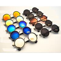 Reflective crow heart sunglasses 2014 brand designer eye glasses coating sunglass oculos de sol femininos vintage sunglasses