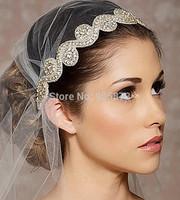 Free shipping 2014 Fashion wedding hair accessories handmade rhinestone bridal headbands XH23