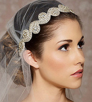Free shipping 2014 Fashion wedding hair accessories handmade rhinestone bridal headbands XH23