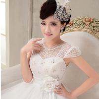 2014 Sexy Hollow Flower Design Rhinestone Wedding Events Dresses Lace Bride Dress For Party jogos de vestir noivas WH04
