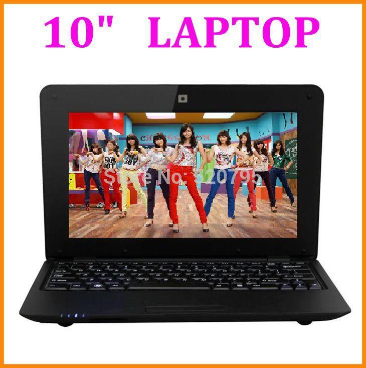 Dual CORE 10 inch Netbook Laptop Computer PC Mini Laptop Notebook 1.5GHz WIFI HDMI Camera RJ45 Port 8GB Nandflash(China (Mainland))