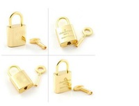 Metal Brand  Lock and  Key  Bag Luggage Locks Golden  Decoration for Bags Free Shipping