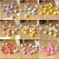 100Pcs/Bag 12colors 3*2Cm PE  Foam Rose Flower Head Handmade DIY Wedding Home Decoration Artificial Rose Flower Wholesale